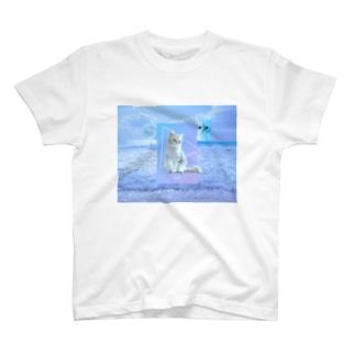 あらゆる猫を愛せ(文字なし片面) T-shirts