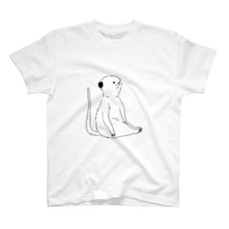 座るミーアキャット T-shirts