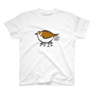 千鳥足のシロチドリさん T-shirts