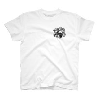せりxなみ モノクロばーじょん T-shirts