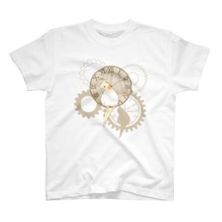 オカメインコ時計Tシャツ T-shirts