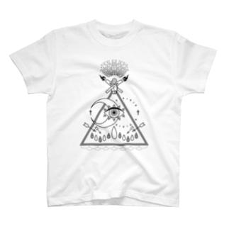 shaman(白) T-shirts
