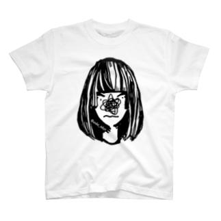 #コンプレックス 鼻隠しガール T-shirts