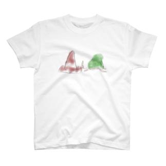 コーンとカメ T-shirts