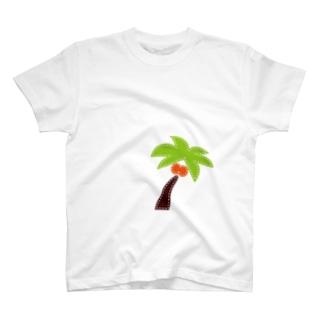 パッチワーク-ヤシの木 T-shirts