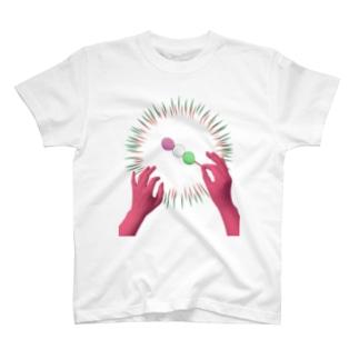 団子を振る指揮者(三色)  T-shirts