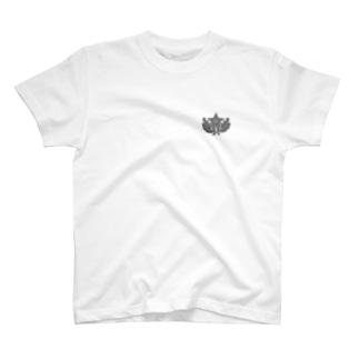 大日本帝国陸軍近衛師団帽章(ワンポイント グレー) T-shirts