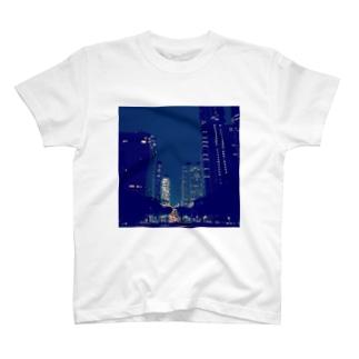 Shinjyuku-blue (park ver.) T-shirts