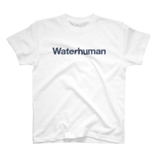 Waterhuman Inc.の公式ロゴTシャツ(白) T-Shirt