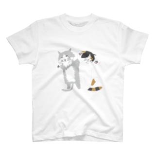 昼寝猫(背景なし) T-shirts