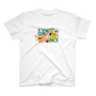 お寿司にゃん T-shirts
