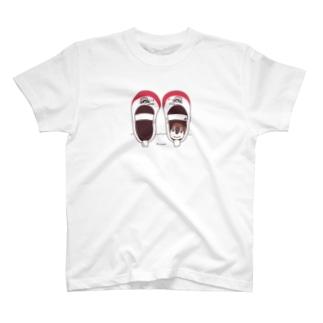 CT165 スズメがちゅん*うわばきちゅんA*イラストサイズ普通ver.* T-shirts