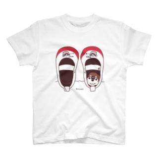 CT165 スズメがちゅん*うわばきちゅんA*イラストサイズ大きいver. T-shirts