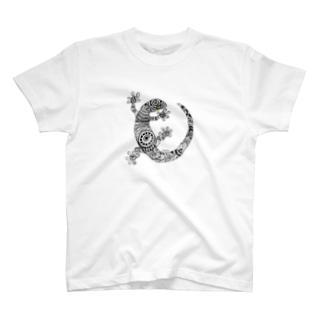 トカゲシリーズ T-shirts