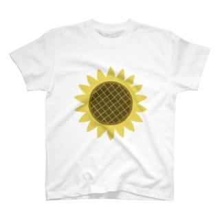 可愛いひまわりマークのデザイングッズ T-shirts