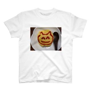 おむらいすのにっこりねこちゃん T-shirts