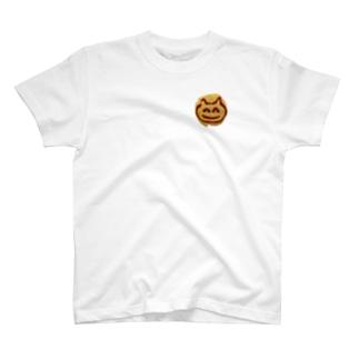 おむらいすのにっこりねこちゃん(ワンポイント) T-shirts