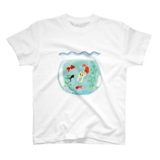 つなサポSHOPのやの犬すいすい T-shirts