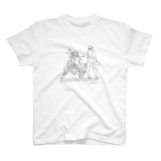 バイクと T-shirts