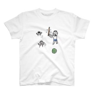 スイカをわる T-shirts