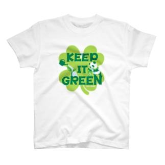 エコ・パンダ ECO PANDA グリーン大作戦 Tシャツ lime T-shirts