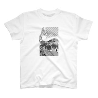 切り絵・ゴールデンスランバー Tシャツ