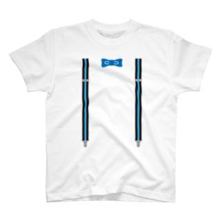 サスペンダーブルー T-shirts