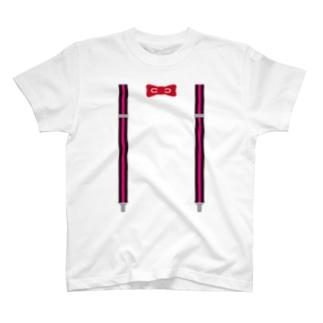 サスペンダーピンク T-shirts