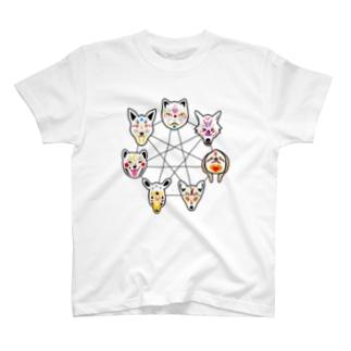真理のお面【七芒星】 T-shirts