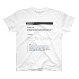 NSWindow Tシャツ