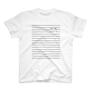 ボーダーねこ。 T-shirts