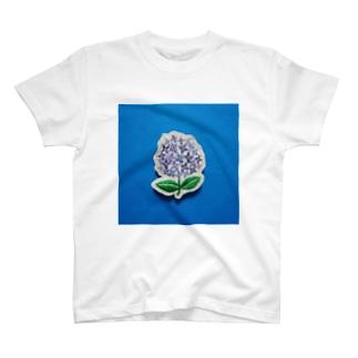 刺繍のアジサイ T-shirts