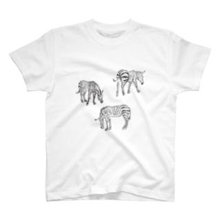 どうぶつの国 シマウマB T-shirts