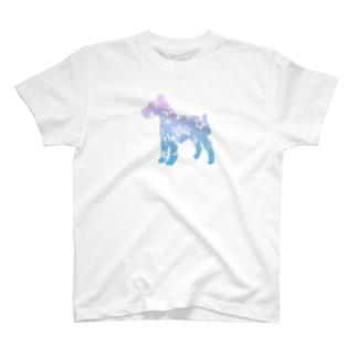 花-sun 2 シュナウザー T-shirts