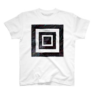 テキスト2021 融合モノクロ T-shirts