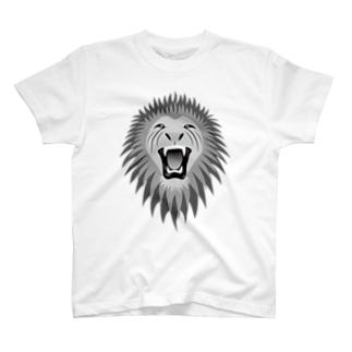 百獣の王(モノクロ) T-shirts