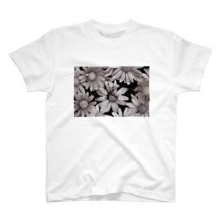 モノクロ花園ロゴ T-shirts