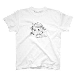 武士ねこ T-shirts