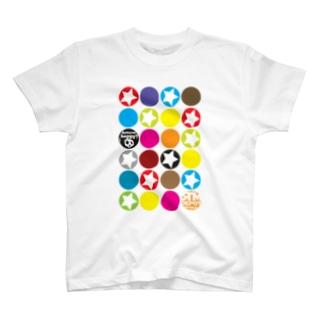 カラフルな○がいっぱい!★がいっぱい!! T-shirts