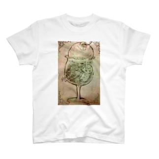 ねこねこわくわくクリームソーダ T-shirts
