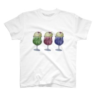ねこねこカラフルクリームソーダ T-shirts