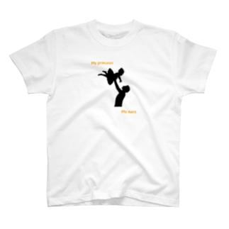 父の日 × バレエ 【my princess my hero】 T-shirts