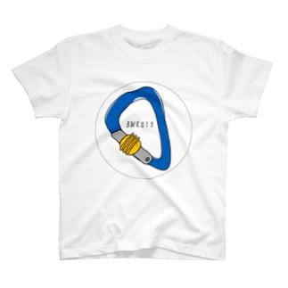 安全環付きカラビナ T-shirts