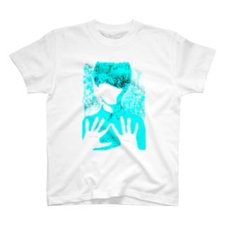 水彩塩画 ×男性 T-shirts
