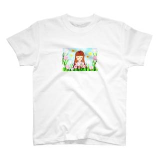 「ピンクダイヤモンドが咲く頃」 T-shirts