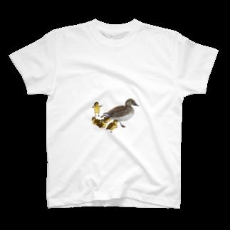 ANInomaMALのオシドリの親子 T-shirts