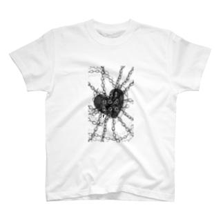 Seized heart 囚われた心 T-shirts