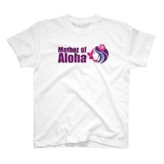 Mother of Aloha wahine pink T-shirts