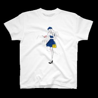 Jojo Yan's Fashionのこの本が好き T-shirts