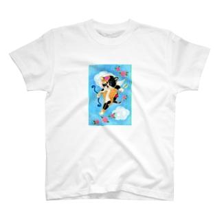 ハートのニャミ キューピッド T-shirts